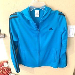 Like new: Addidas blue zip up jacket Sise L